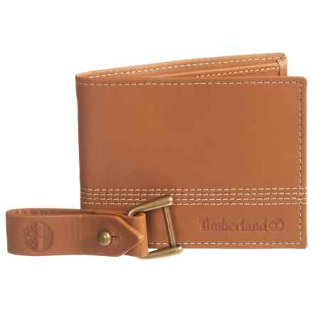 Timberland Quad Bifold Leather Wallet (For Men) in Tan - Closeouts