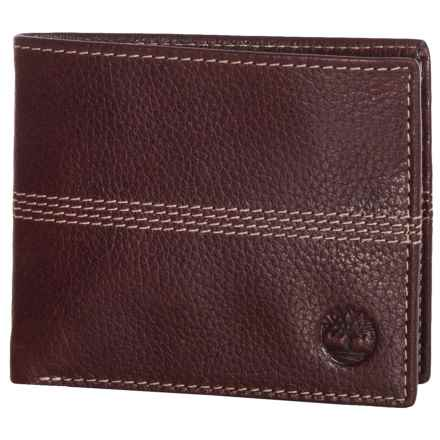 Timberland Quad Sportz Bifold Wallet in Burgundy - Closeouts