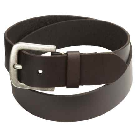 Timberland Saddle Leather Belt - 40mm (For Men) in Dark Brown - Closeouts