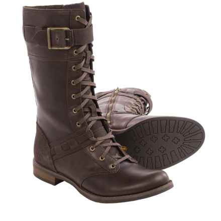 Timberland Savin Hill Mid Leather Boots - Lace-Ups (For Women) in Dark Brown - Closeouts