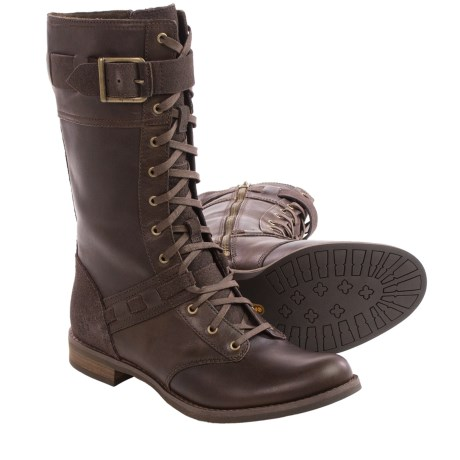Timberland Savin Hill Mid Leather Boots Lace Ups (For Women)