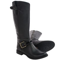 "Timberland Savin Hill Tall Boots - 14"" (For Women) in Black Smooth - Closeouts"