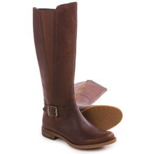 Timberland Savin Hill Wide Calf Tall Boots - Leather (For Women) in Wheat - Closeouts
