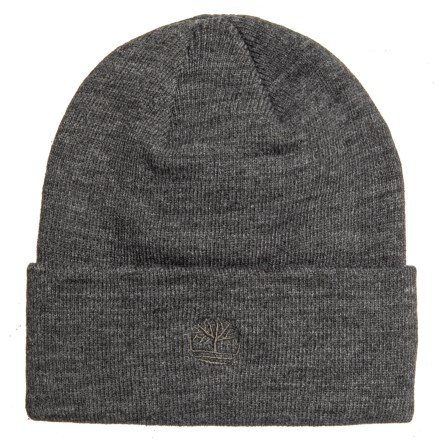 Timberland Solid Watch Cap (For Men) in Charcoal Heather Grey - Closeouts 3716e9819129