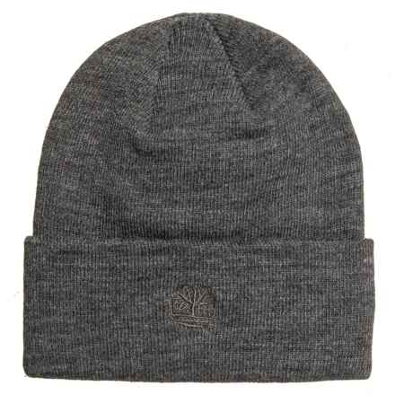 Timberland Solid Watch Cap (For Men) in Charcoal Heather Grey - Closeouts