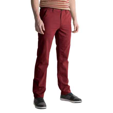 Timberland Squam Lake Twill Chino Pants - Straight Fit, Organic Cotton (For Men) in Dark Port - Closeouts