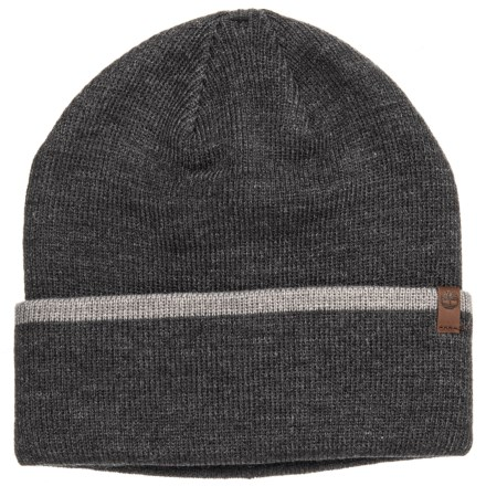 012ad0a9e85 Timberland Stripe Cuff Watch Cap (For Men) in Charcoal Heather Grey Light  Grey