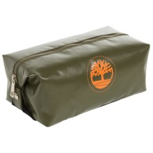 Timberland Tarp Tree-Printed Travel Kit in Olive Green - Closeouts