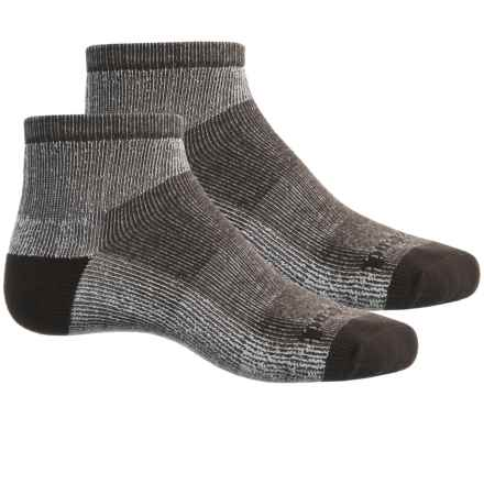 Timberland Thermo Cool Socks - 2-Pack, Quarter Crew (For Men) in 210 Brown - Closeouts