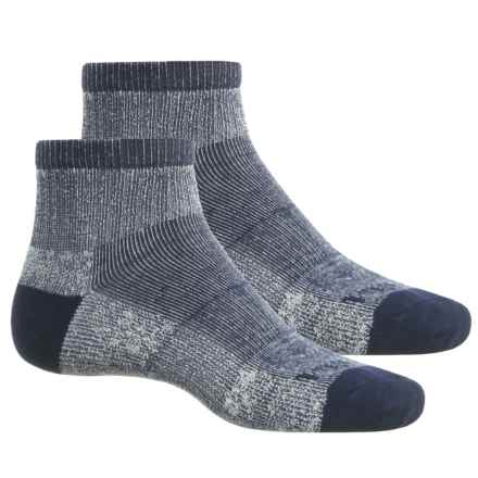 Timberland Thermo Cool Socks - 2-Pack, Quarter Crew (For Men) in Navy - Closeouts