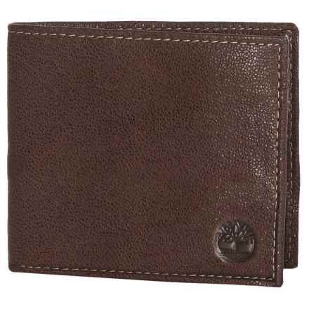 Timberland Tip Point Leather Passcase Wallet in Brown - Closeouts