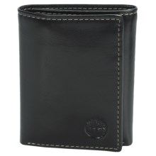 Timberland Trifold Wallet - Shiny Leather in Black - Closeouts