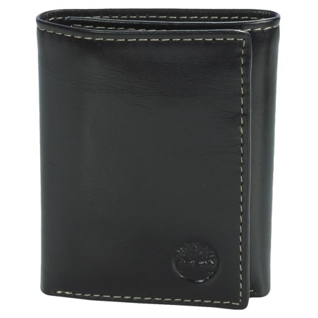 Timberland Trifold Wallet - Shiny Leather in Black