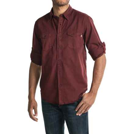 Timberland Twill Cargo Shirt - Long Sleeve (For Men) in Dark Port - Closeouts