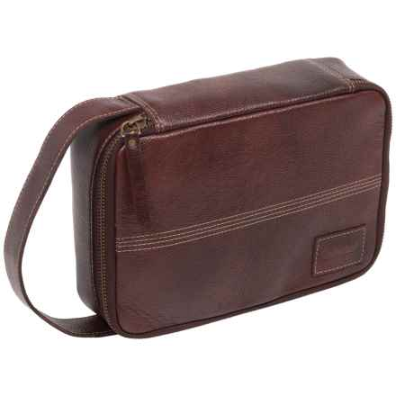Timberland Two-Tone Leather Travel Kit in 01 Brown - Closeouts