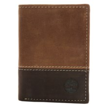 Timberland Two-Tone Trifold Wallet in Tan - Closeouts