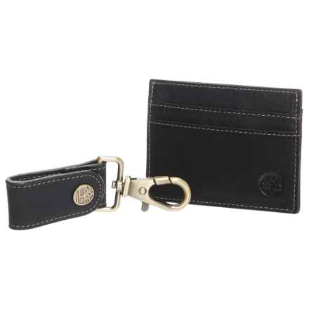 Timberland Wallet and Carabiner Gift Set (For Men) in Black - Closeouts