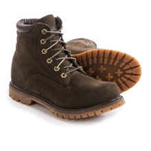 Timberland Waterville Boots - Waterproof, Nubuck (For Women) in Dark Brown - Closeouts