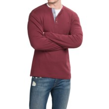 Timberland Wharf River Henley Shirt - Long Sleeve (For Men) in Cordovan - Closeouts
