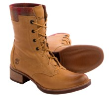 Timberland Whittemore Wool Accent Leather Boots - Lace-Ups (For Women) in Wheat - Closeouts
