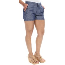 Timberland Winnicut River Shorts - Linen-Cotton (For Women) in Blue Print - Closeouts
