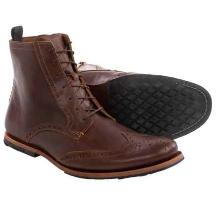 Timberland Wodehouse Wingtip Boots - Leather (For Men) in Glazed Ginger - Closeouts