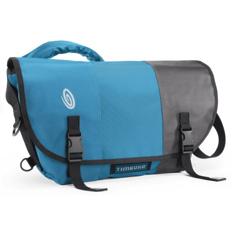 Timbuk2 Classic Messenger Bag - Medium, Ballistic Nylon in Cold Blue/Cold Blue/Gunmetal