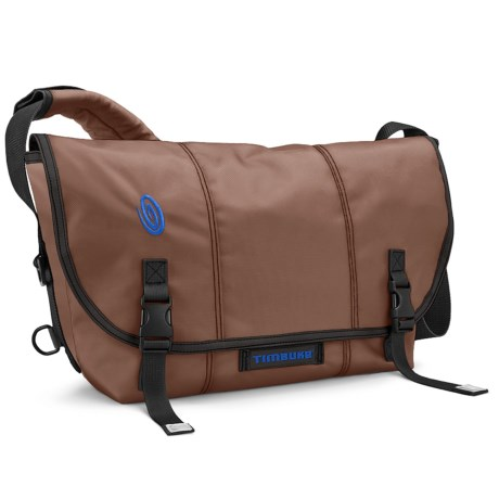 Timbuk2 Classic Messenger Bag - Medium, Ballistic Nylon in Mahogany Brown/Pacific
