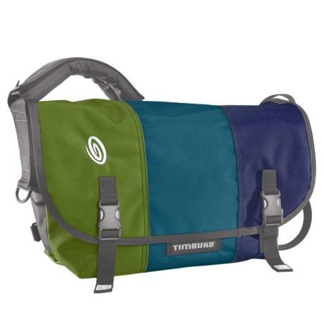 Timbuk2 Classic Messenger Bag - Medium in Algae Green/Aloha Blue/Night Blue