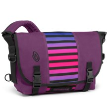 Timbuk2 Classic Messenger Bag - Small in Village Violet Weathered Canvas/Cobalt Sunset Stri - Closeouts