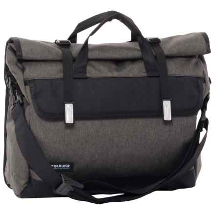 Timbuk2 Custom Prospect Laptop Messenger Bag in Black Chambray/Waxed Canvas - Closeouts