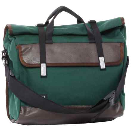 Timbuk2 Custom Prospect Laptop Messenger Bag in Juniper Canvas/Faux Leather - Closeouts