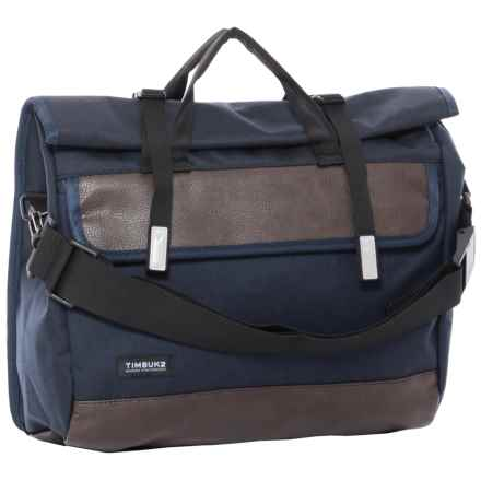 Timbuk2 Custom Prospect Laptop Messenger Bag in Nautical Twill/Faux Leather - Closeouts