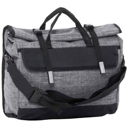 Timbuk2 Custom Prospect Laptop Messenger Bag in Texture Grey/Black Waxed Canvas - Closeouts
