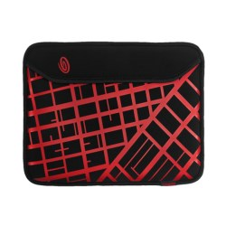 Timbuk2 Scuba Neoprene Tablet Case - XS in Black/Revlon Red Sf Grid Print