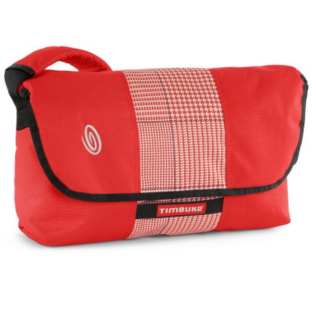 Timbuk2 Spin Messenger Bag - Medium in Bixi Red/Bixi Red Plaid/Bixi Red