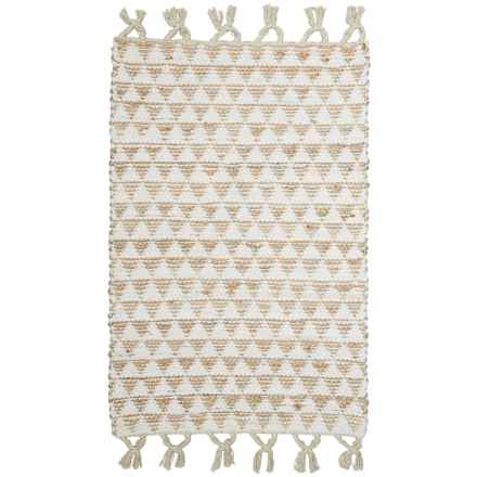 "Timbuktu Dorset Scatter Rug - 30x48"" in White - Closeouts"
