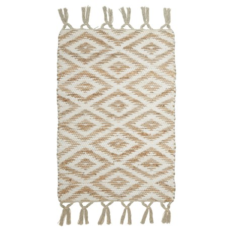 "Timbuktu Kerry Scatter Rug - 24x36"" in White"