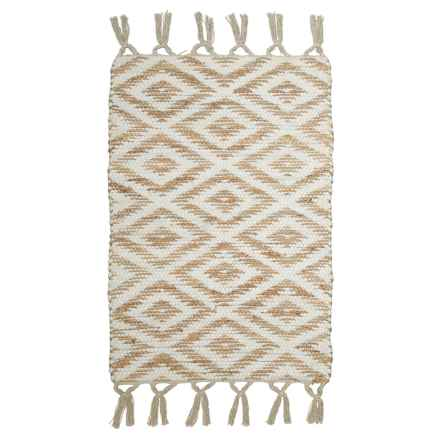"Timbuktu Kerry Scatter Rug - 30x48"" in White - Closeouts"