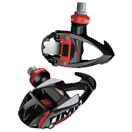 Time Sport IClic2 Titan Carboflex Road Pedals - Carbon in Black/Red