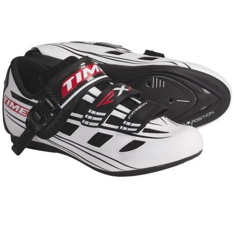Time Sport RXI Road Cycling Shoes - 3-Hole (For Men and Women) in White/Black