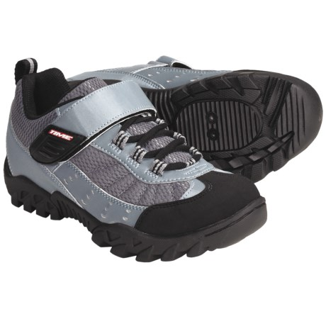 Time Sport TXL MTB Cycling Shoes - SPD (For Women) in Grey/Black