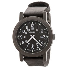 Timex Camper Analog Watch - Nylon Band (For Men and Women) in Grey/Grey - Closeouts