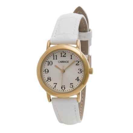 Timex Carriage Watch - Leather Strap (For Women) in Gold/White - Closeouts