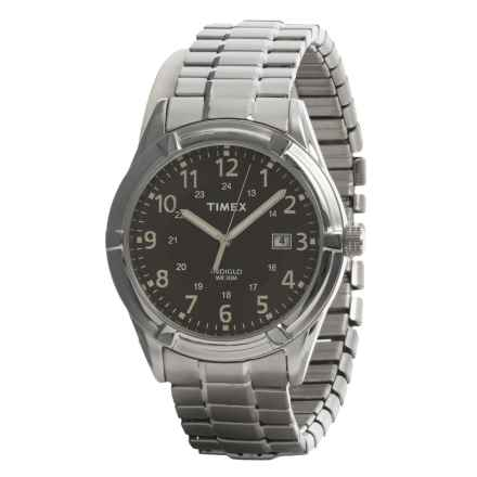 Timex Easton Avenue Main Street Collection Watch - Stainless Steel Bracelet in Stainless Steel/Blk Face - Closeouts