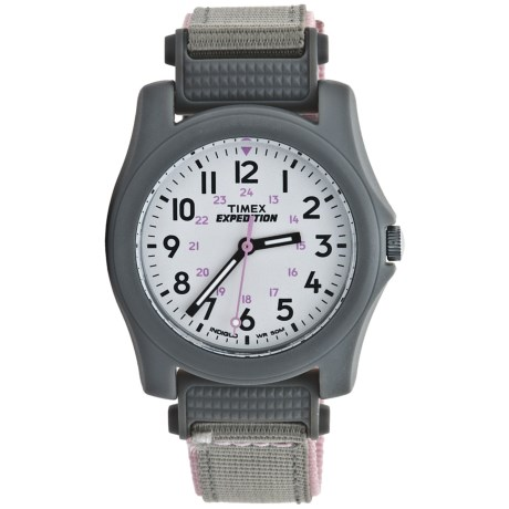 Timex Expedition Camper Watch (For Women) in White/Gray/Pink