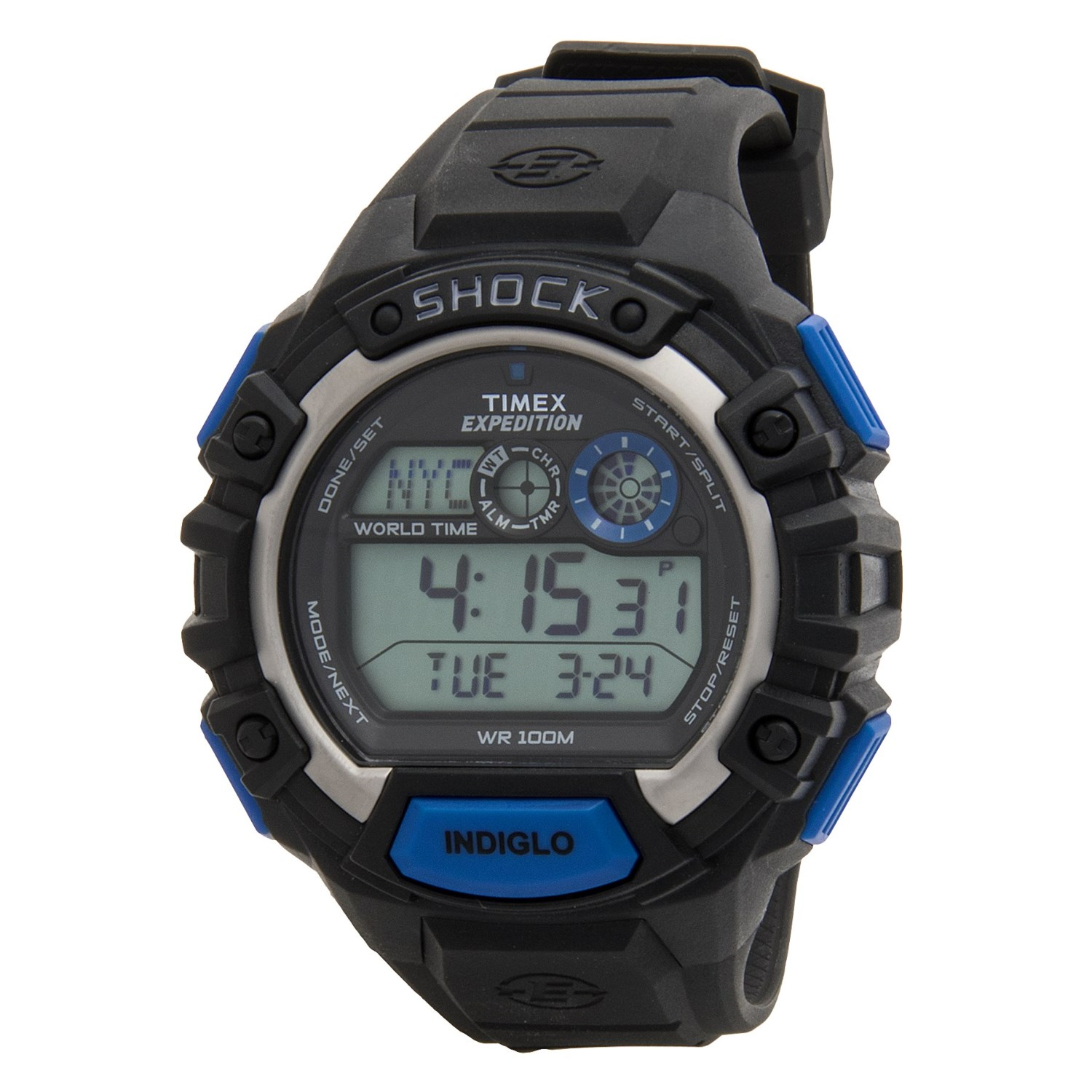 timex expedition digital cat shock watch for men save 59