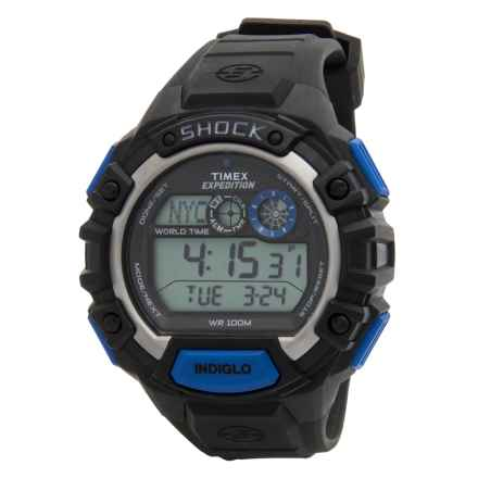 Timex Expedition Digital Cat Shock Watch (For Men) in Black/Black - Closeouts