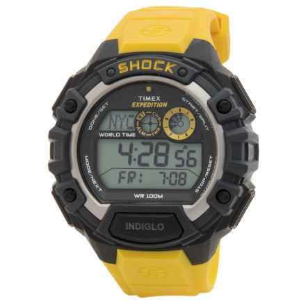 Timex Expedition Digital Chronograph Cat Shock Watch (For Men) in Black/Yellow - Closeouts