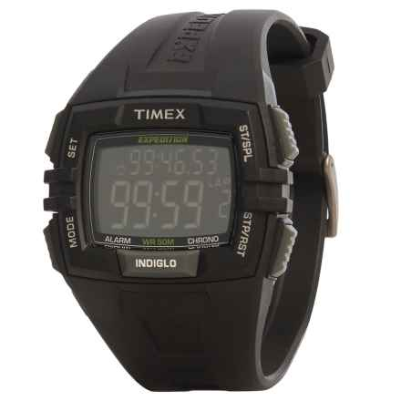 Timex Expedition Elevated Digital Watch - Resin Band (For Men) in Black - Closeouts